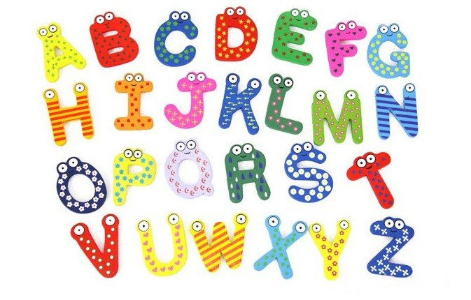 Free Cartoon Alphabet Letters