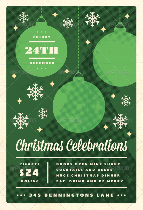 18 free christmas flyer design templates images for Free printable event flyer templates