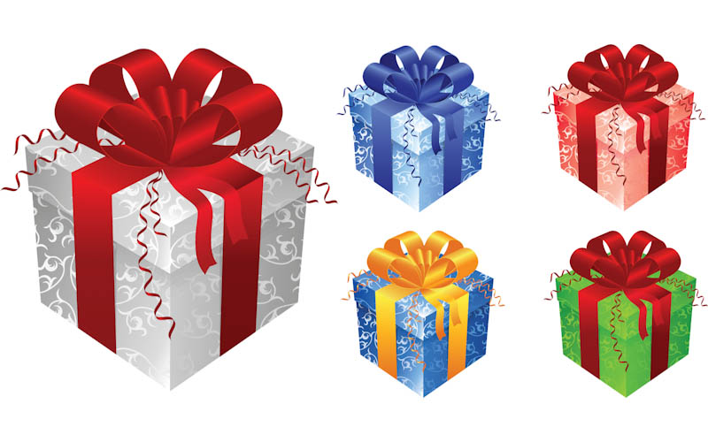 Free Vector Christmas Gift Box Clip Art