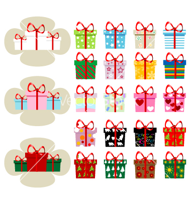 Free Vector Christmas Presents