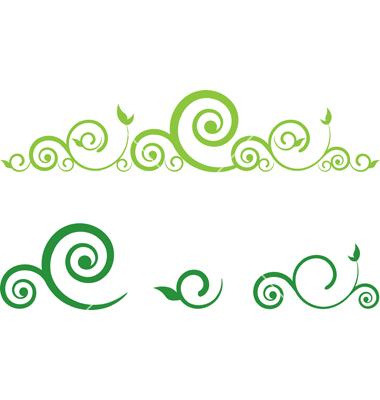 Free Vector Floral Swirls Border