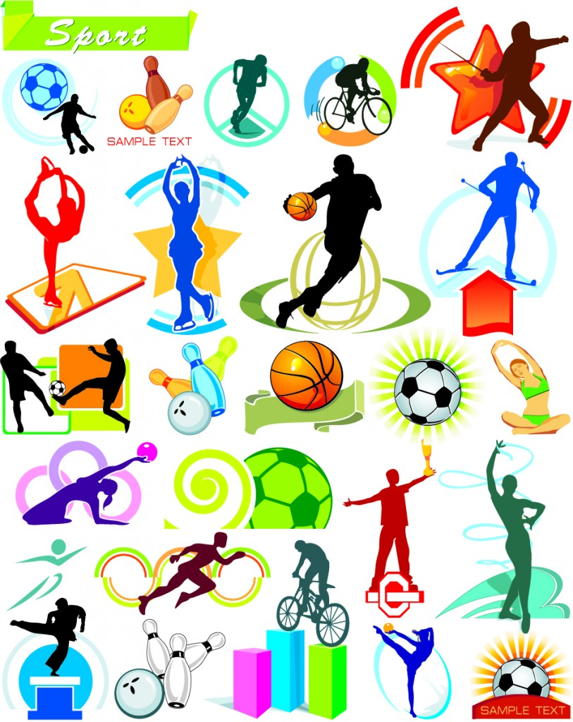 8 Sports Emblems Vector Images