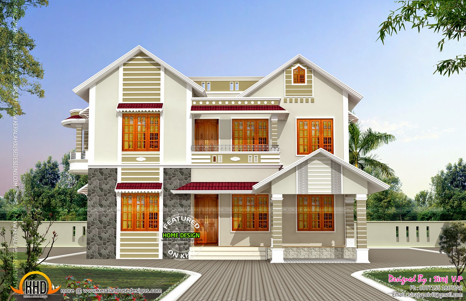 10 home design front view images modern house design for House plans for homes with a view