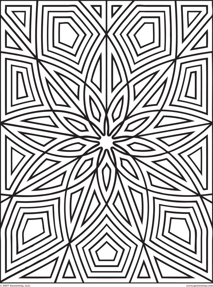 Geometric Design Pattern Coloring Pages Printable
