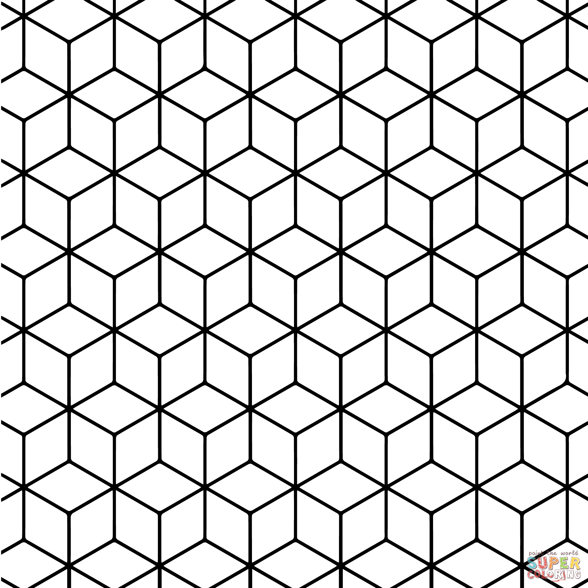 Geometric Pattern Coloring Pages Printable