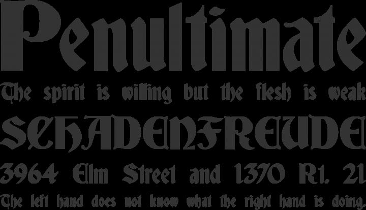 German Gothic Font Free