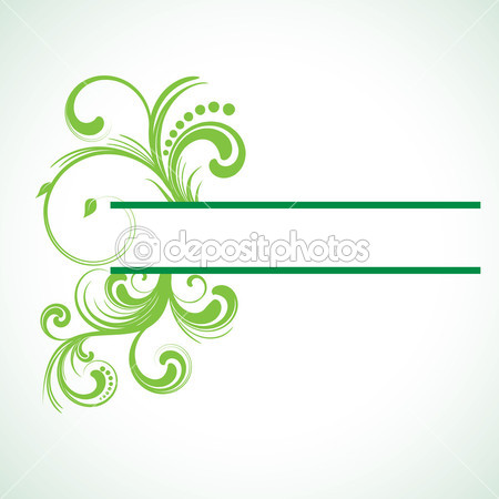 15 green vector swirl images green swirl floral vector