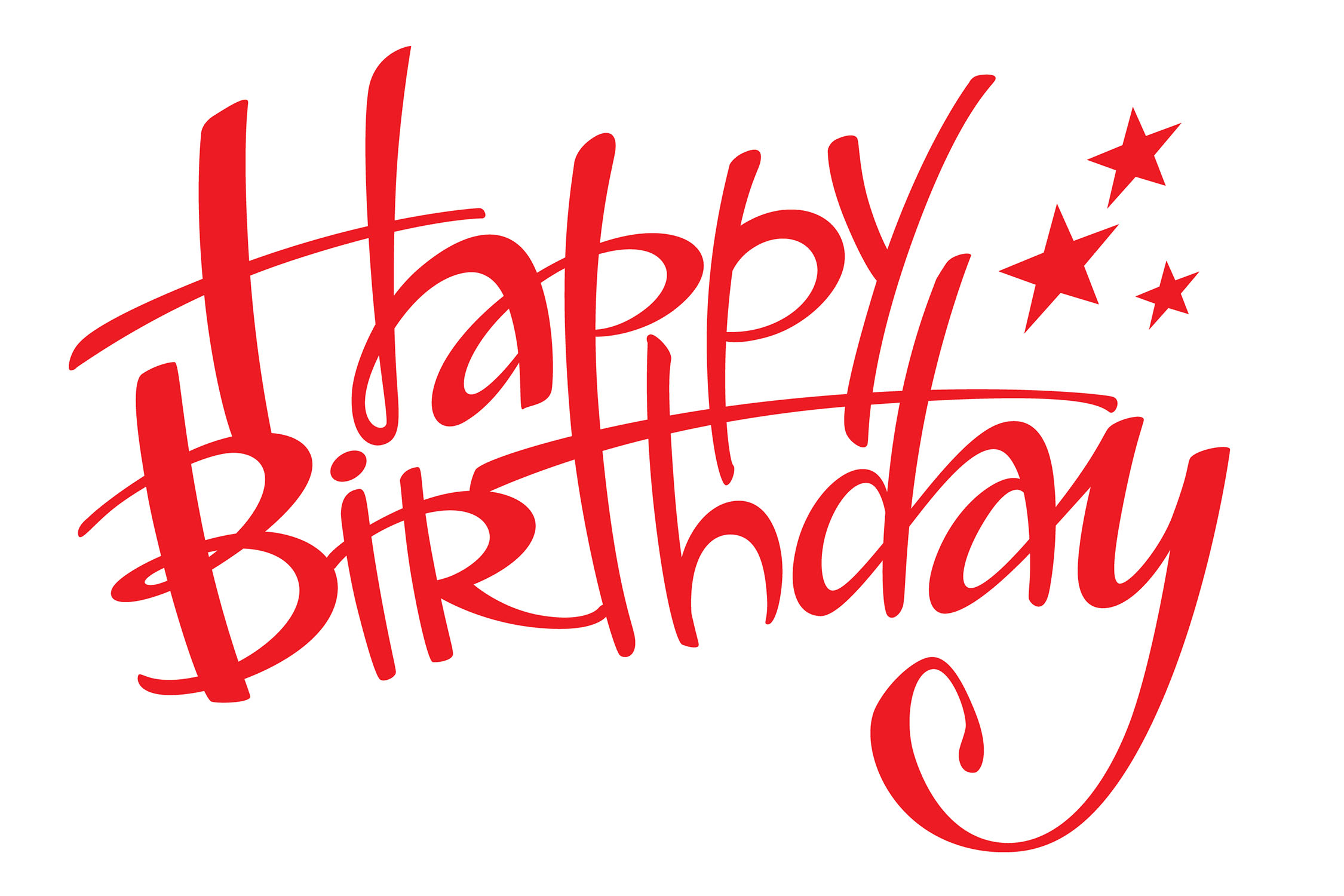13 Happy Birthday Text Graphics Images
