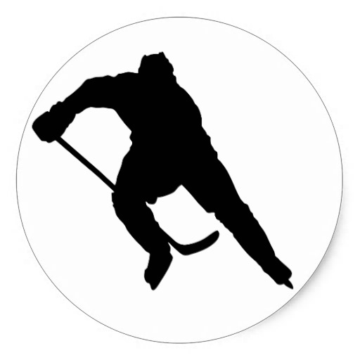 9 Hockey Player Silhouette Vector Images