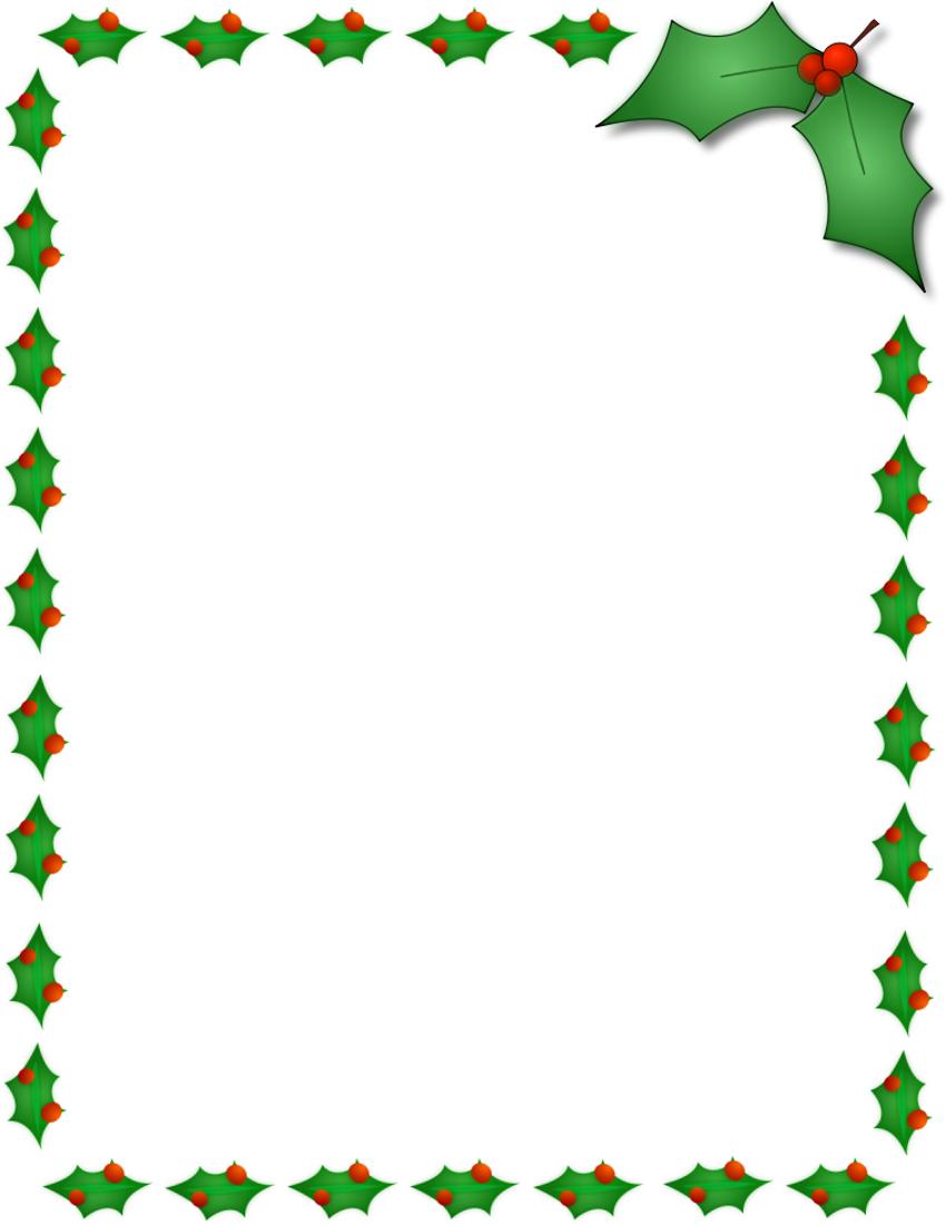 Holiday Clip Art Borders