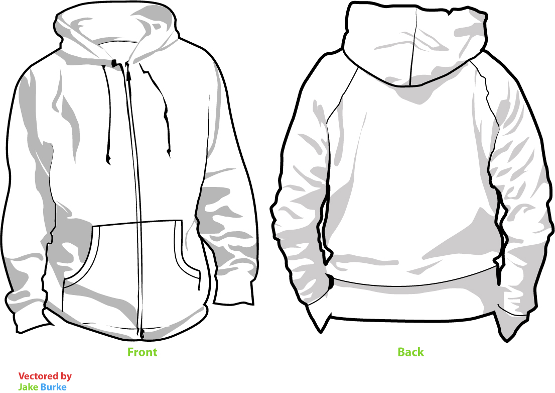 14 Hoodie Shirt Template Images