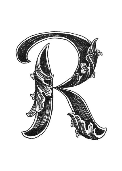 13 Fancy Font Letters Script R Images - Printable Cursive ...