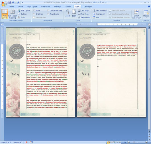 word page designs