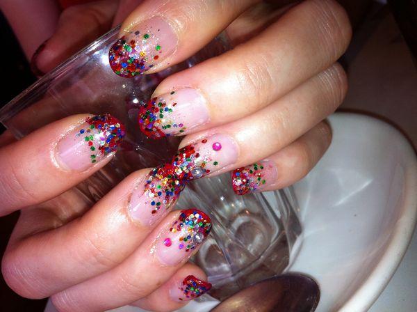 Nail Art Designs with Rhinestones