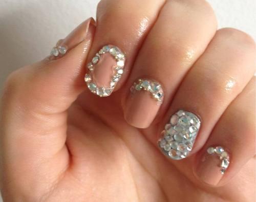 Nail Designs with Rhinestones