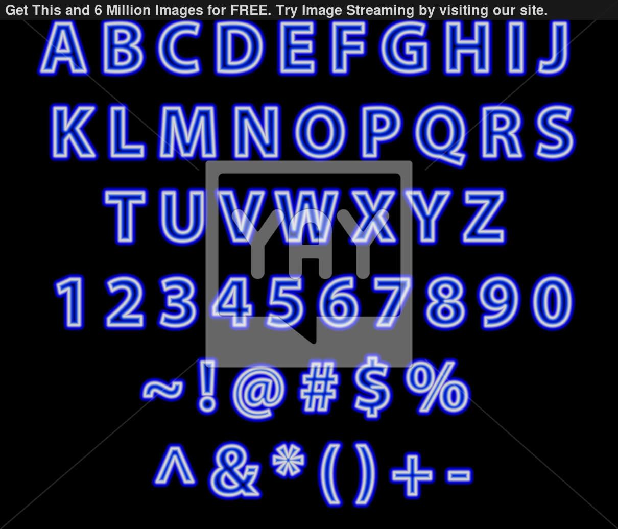 9 Neon Font Free TrueType Images