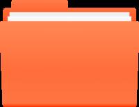 Orange File Folder Icon