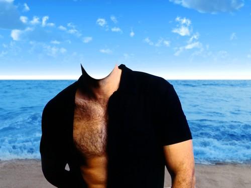 Photoshop Man On Beach