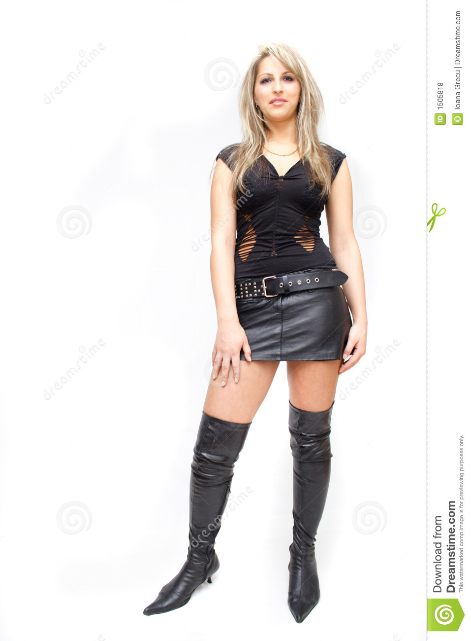 Pretty Women Wearing Leather