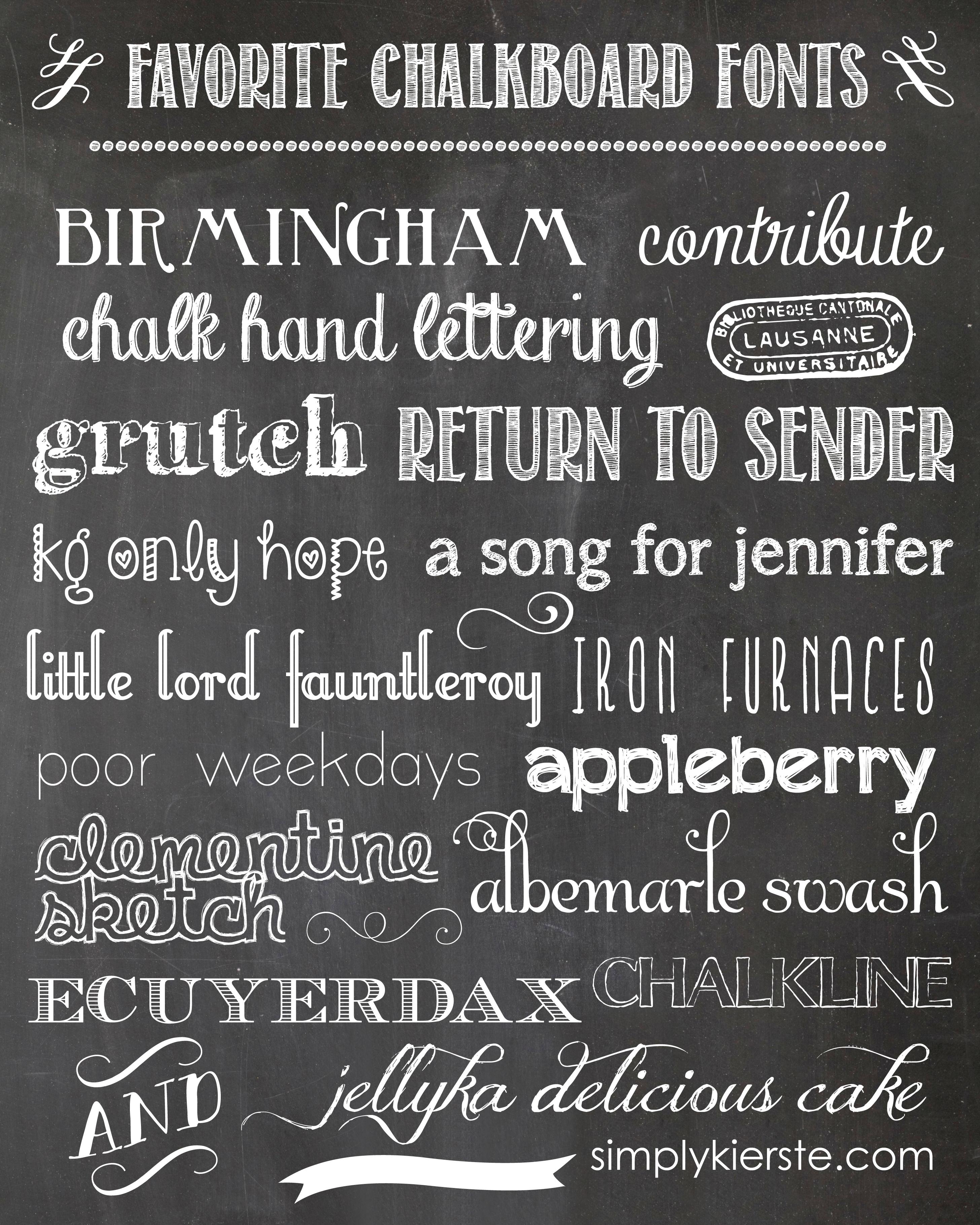 13 Banner Chalkboard Fonts Images