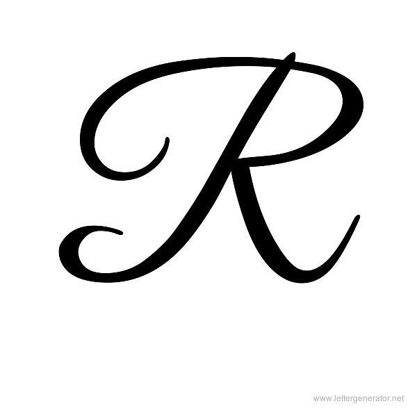13 Fancy Font Letters Script R Images