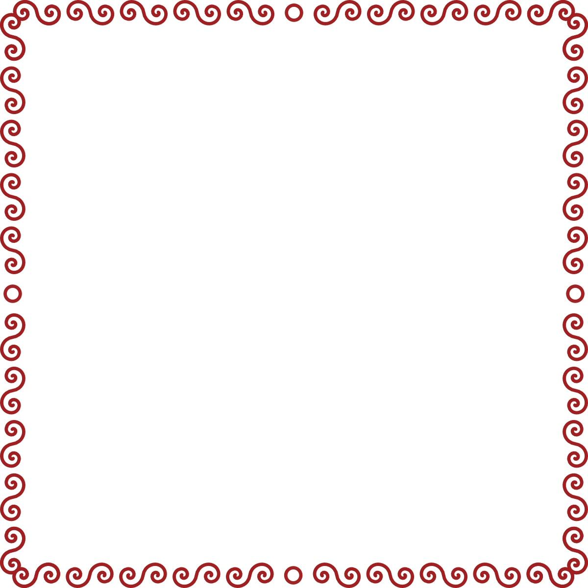 Red Swirl Border
