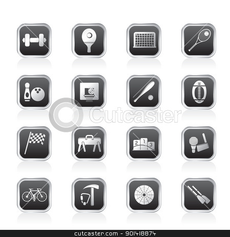 12 Simple Sports Icons Images