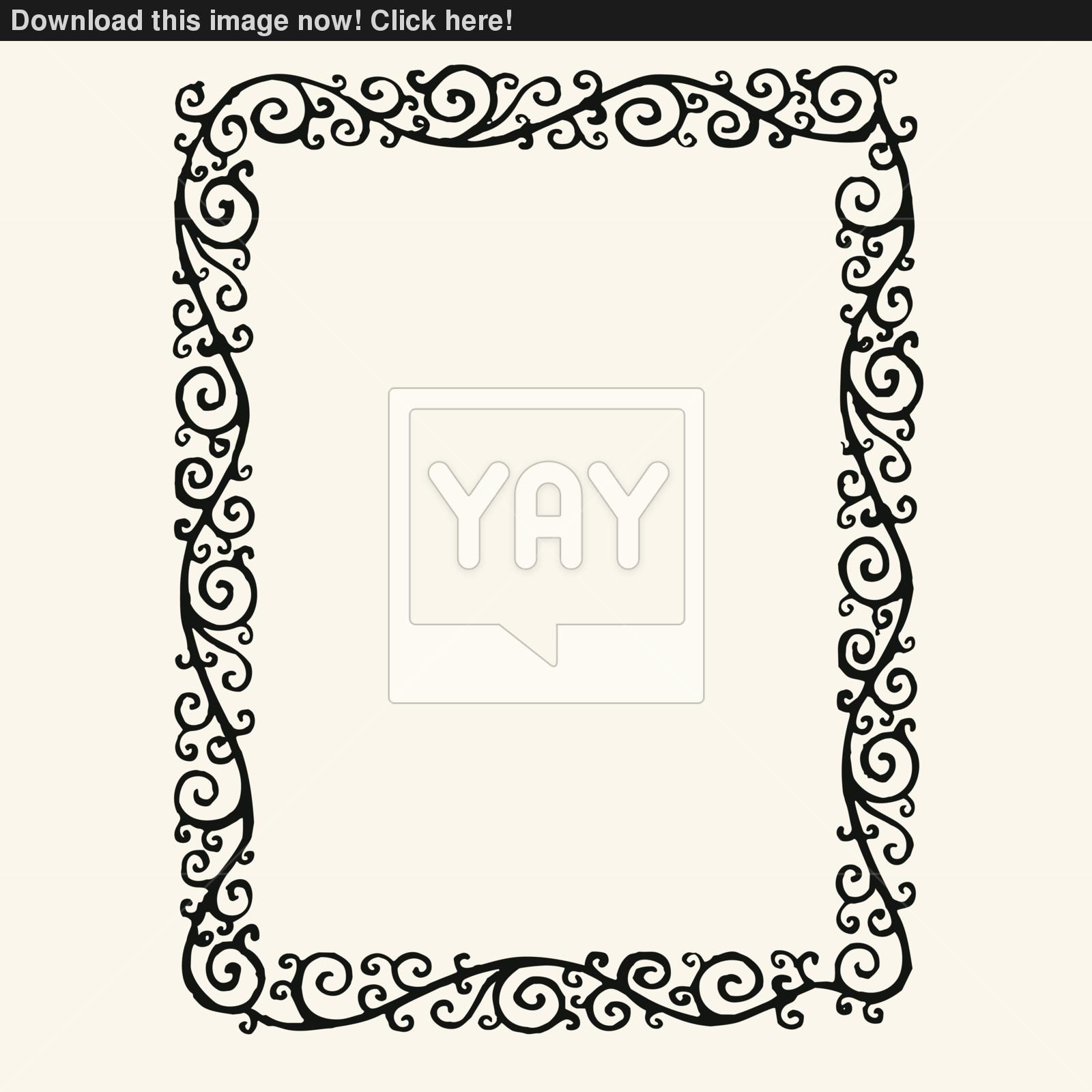 Swirl Vector Borders and Frames