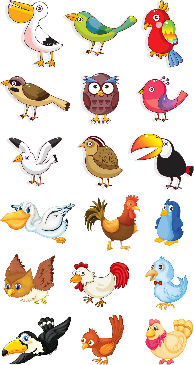14 Cartoon Bird Vector Images