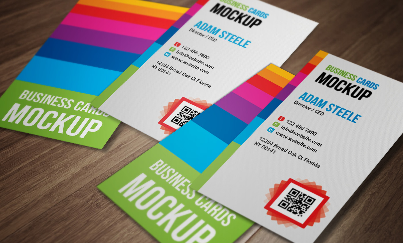 Vertical Business Card Mockup Psd Free
