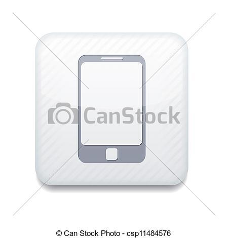 White Smartphone Icon Vector
