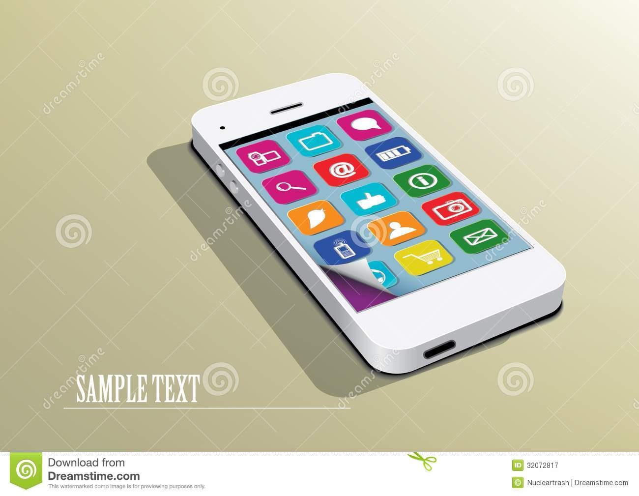 White Smartphone Icon