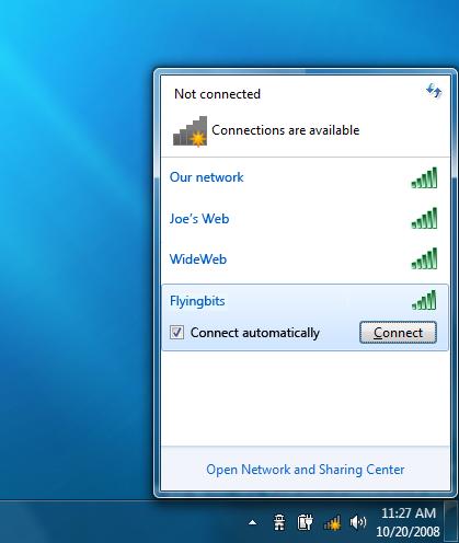 Wireless Icon System Tray Windows 7