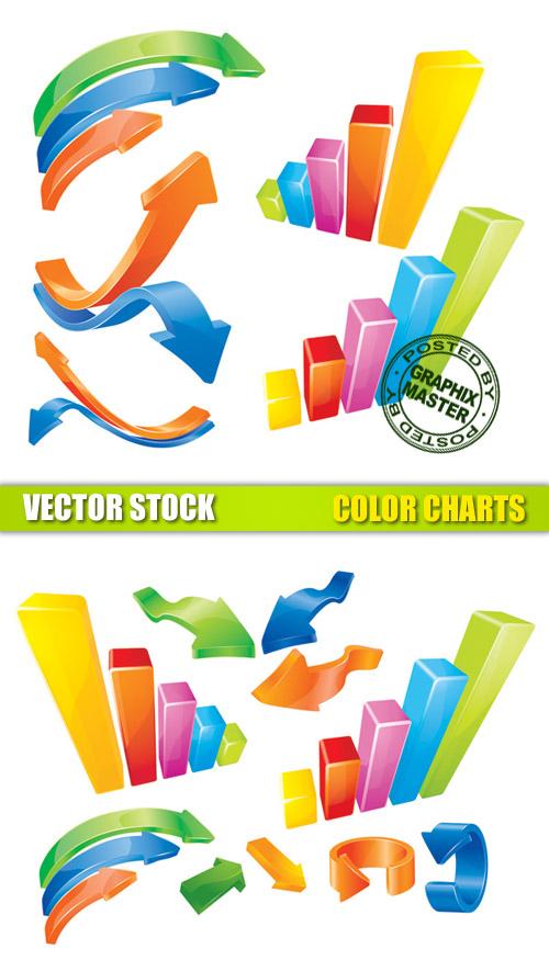 3D Vector Graph Chart