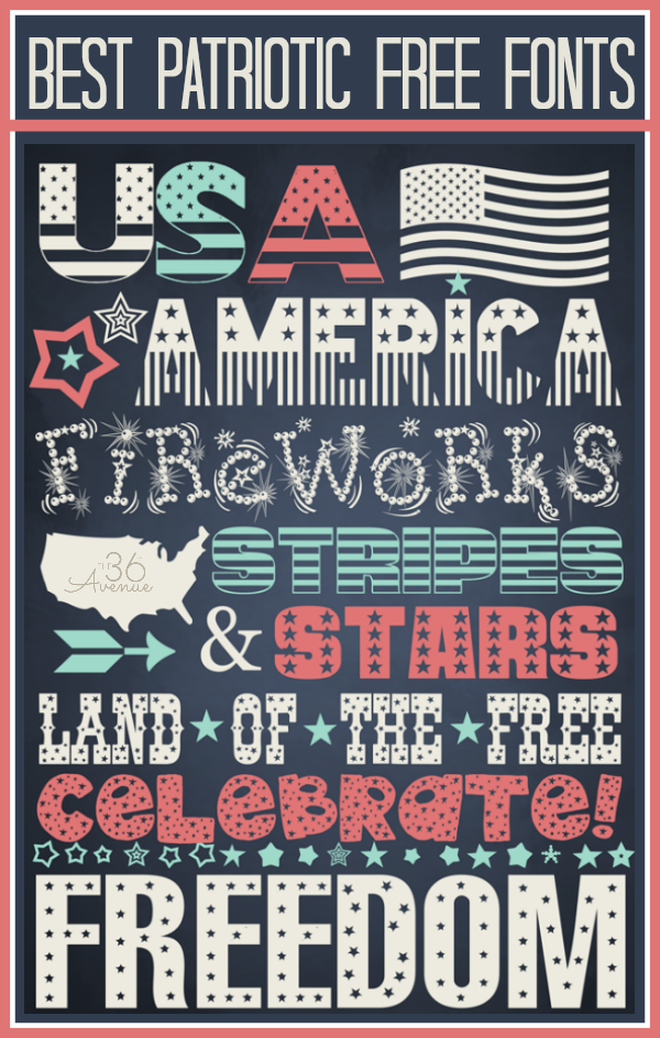 7 Free Patriotic Fonts For Teachers Images
