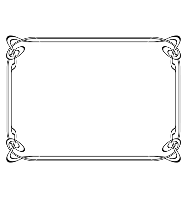 Art Nouveau Vectors Frames Borders