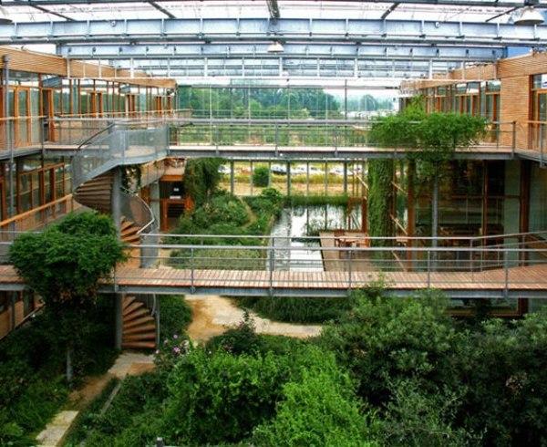 Atrium Architecture Design Green