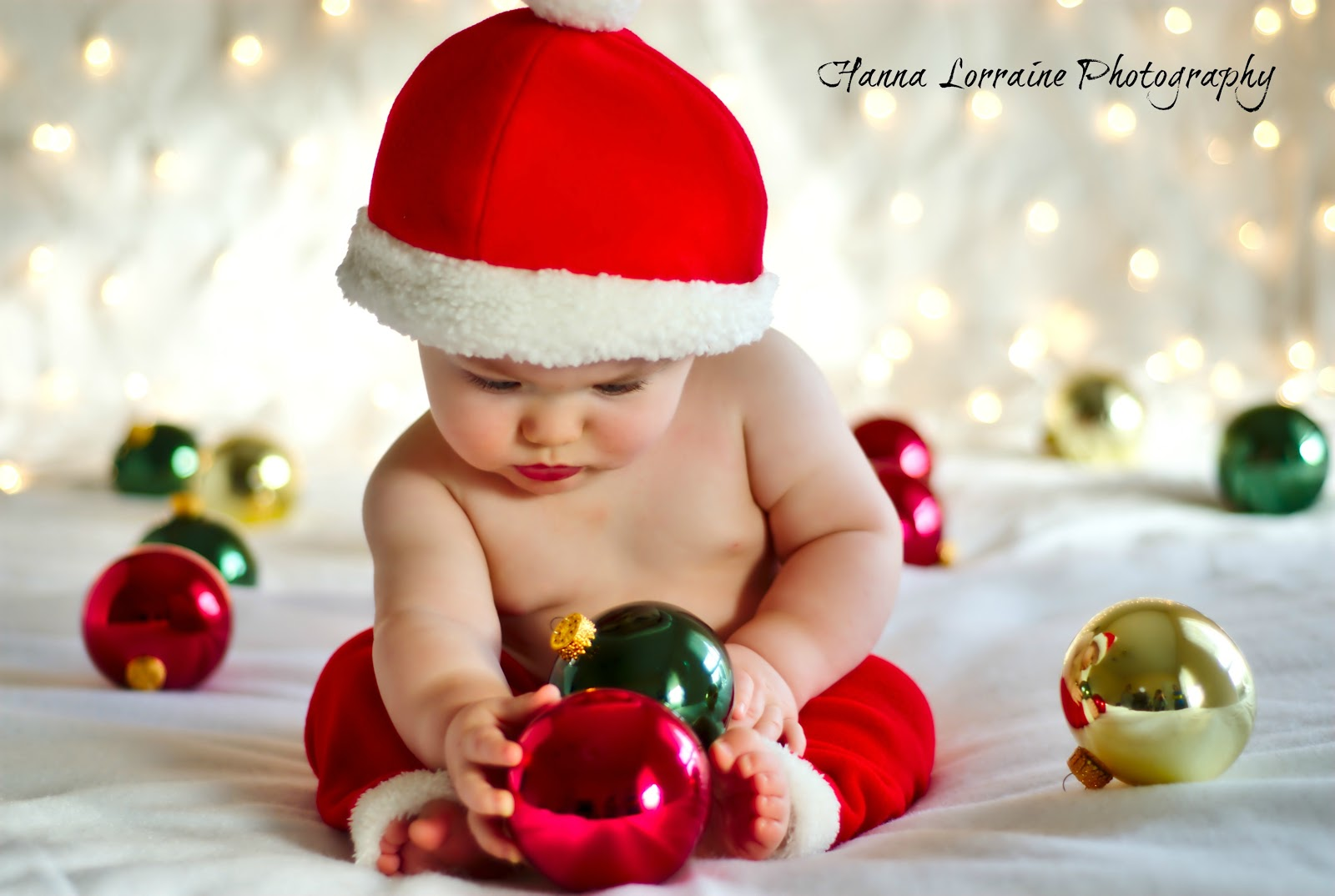 Baby Girl Christmas Photography