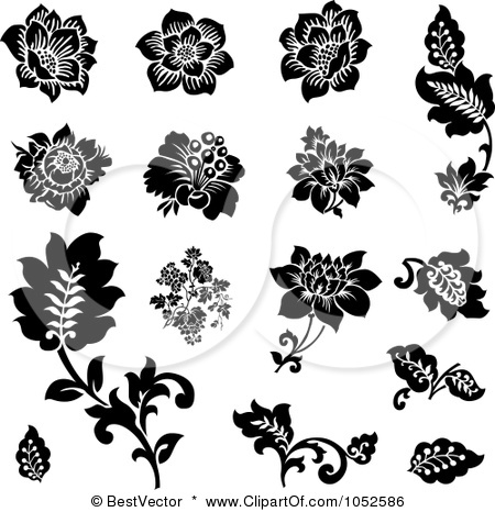 15 Black And White Vector Plant Images