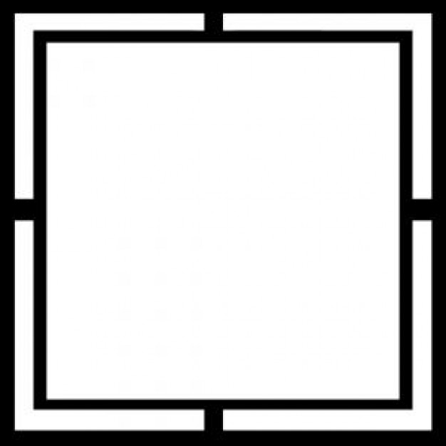 Black and White Frame Vector