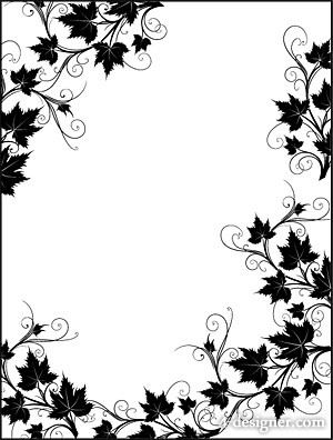 Black and White Lace Border