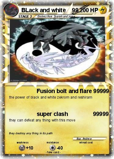 Black and White Pokemon Cards