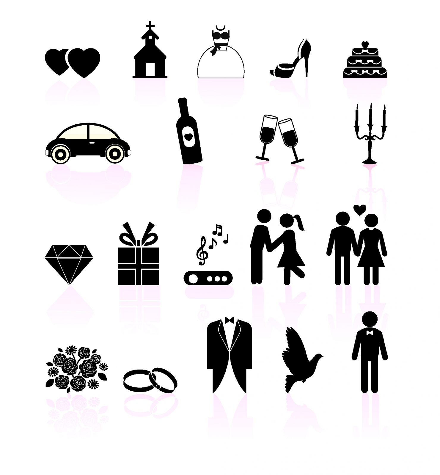 14 Black And White Icons Pay Day Images