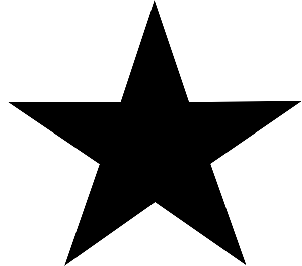 Black Star Clip Art