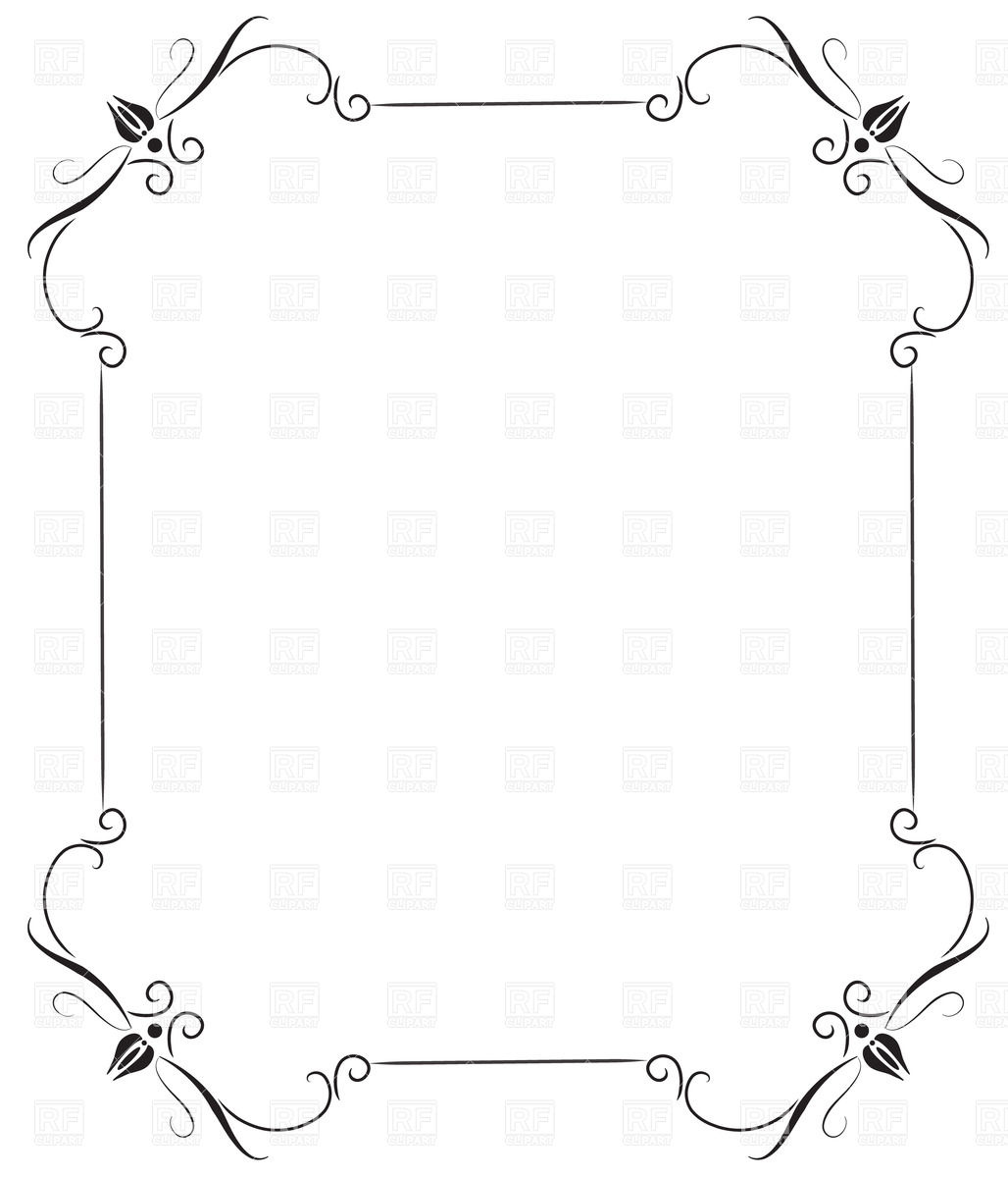 Black Vintage Frame Borders