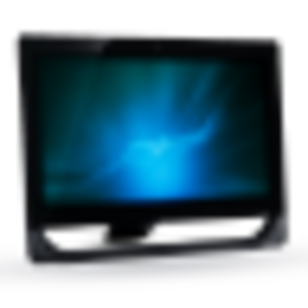 Blue Computer Screen Icon