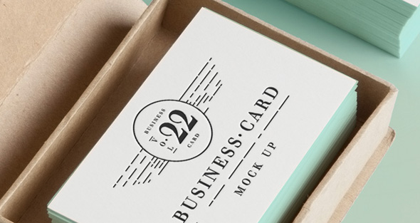 Business Card Mock Up Template PSD