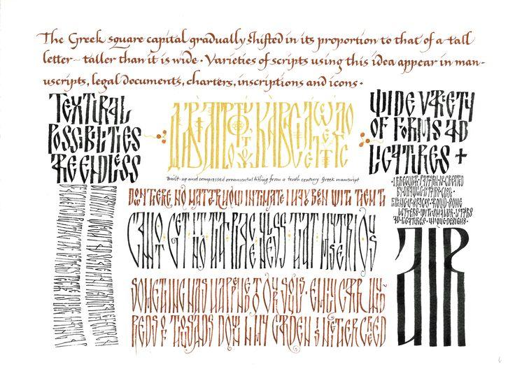 Byzantine Calligraphy Alphabet