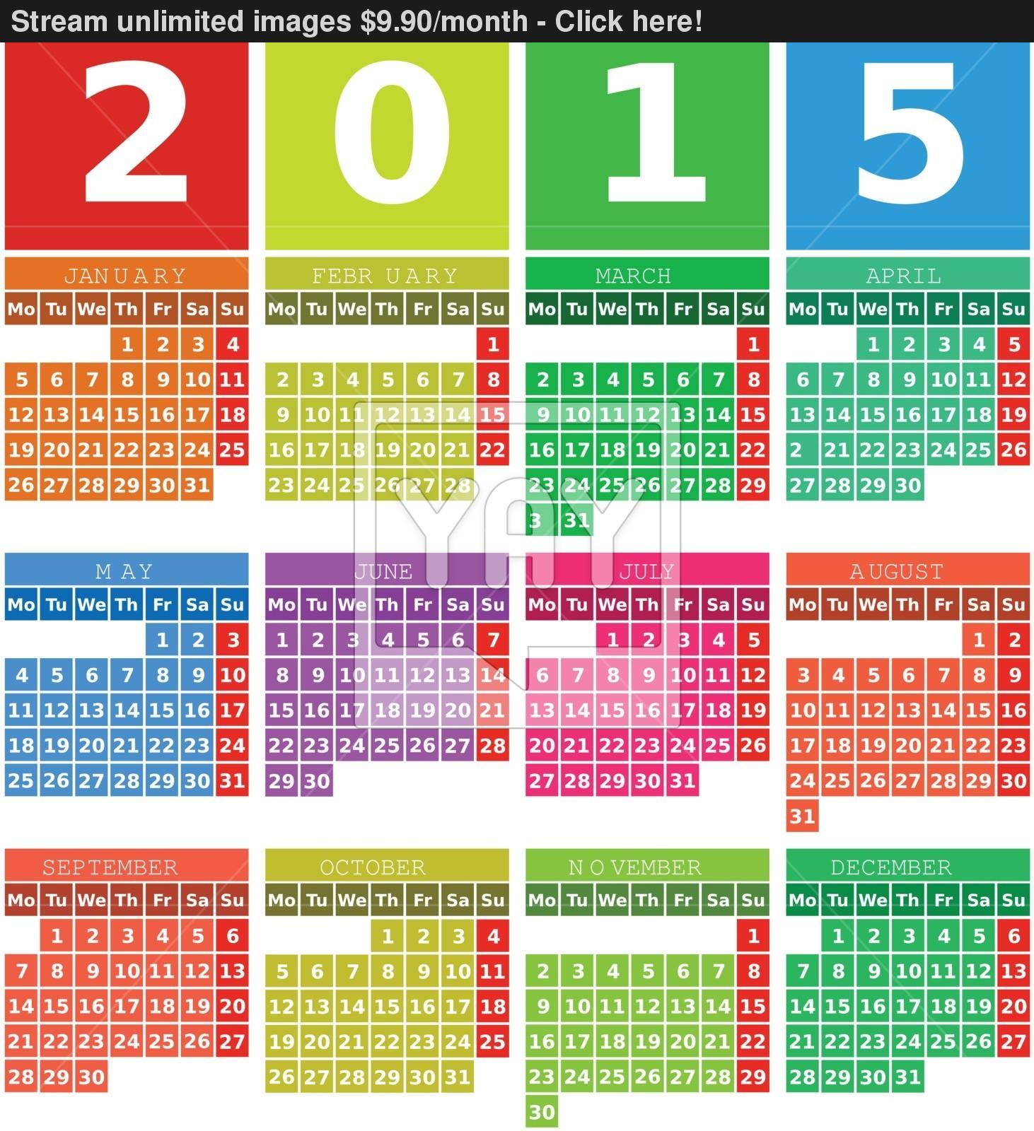 14 2015 Calendar Vector Design Images