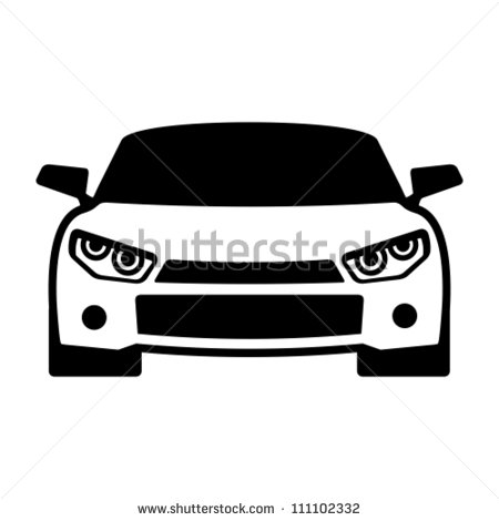 14 Vector Sports Car Front Clip Art Images Car Front View Vector